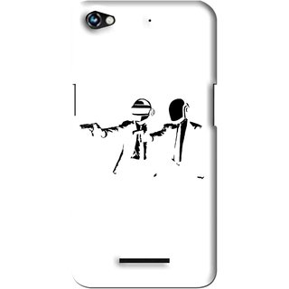 Snooky Printed Gangster Mobile Back Cover For Micromax Canvas Hue 2 - Multi