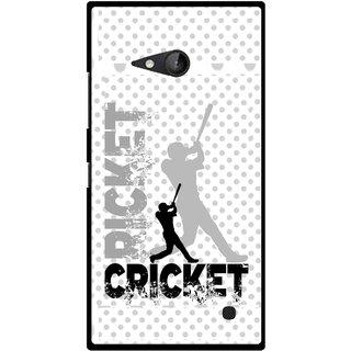 Snooky Printed Cricket Mobile Back Cover For Nokia Lumia 730 - Multicolour