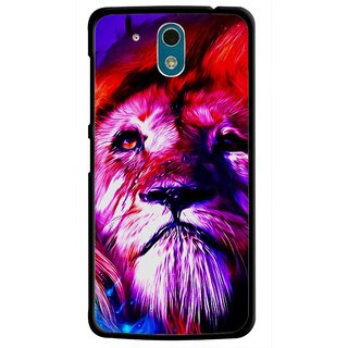 Snooky Printed Freaky Lion Mobile Back Cover For HTC Desire 326G - Multicolour