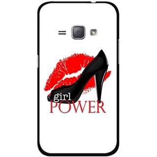 Snooky Printed Girl Power Mobile Back Cover For Samsung Galaxy J1 - Multicolour