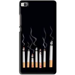 Snooky Printed Smoking Mobile Back Cover For Huawei Ascend P8 - Multi
