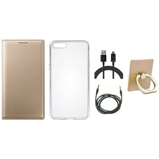 Lenovo K4 Note Cover with Ring Stand Holder, Silicon Back Cover, USB Cable and AUX Cable