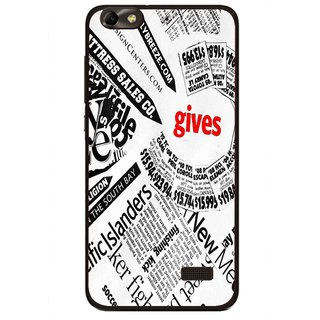 Snooky Printed Newspaper Mobile Back Cover For Huawei Honor 4C - Multi