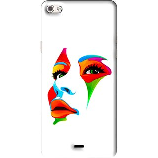 Snooky Printed Modern Girl Mobile Back Cover For Micromax Canvas Sliver 5 Q450 - Multi