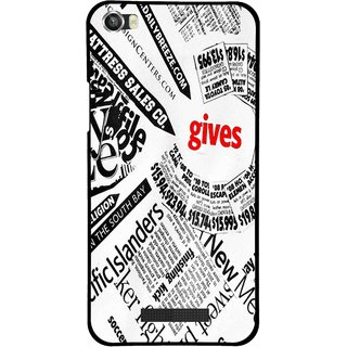 Snooky Printed Newspaper Mobile Back Cover For Lava Iris X8 - Multi