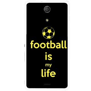 Snooky Printed Football Is Life Mobile Back Cover For Sony Xperia ZR - Multicolour