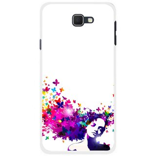 Snooky Printed Flowery Girl Mobile Back Cover For Samsung Galaxy J5 Prime - Multicolour