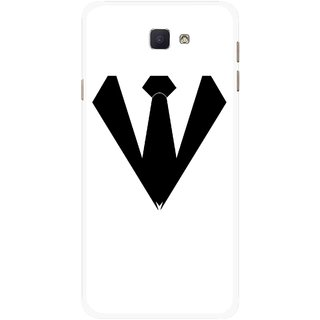 Snooky Printed Tie Collar Mobile Back Cover For Samsung Galaxy J7 Prime - Multicolour