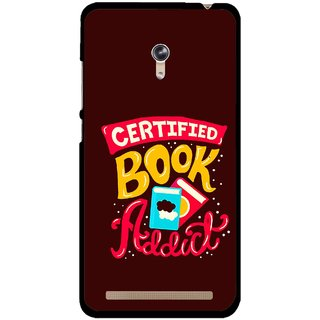 Snooky Printed Reads Books Mobile Back Cover For Asus Zenfone 6 - Multicolour