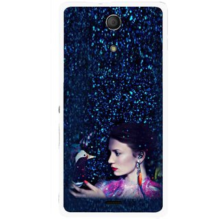 Snooky Printed Blue Lady Mobile Back Cover For Sony Xperia ZR - Multicolour
