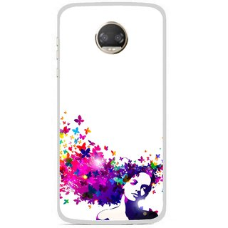Snooky Printed Flowery Girl Mobile Back Cover For Motorola Moto Z2 Play - Multicolour