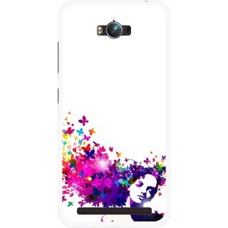 Snooky Printed Flowery Girl Mobile Back Cover For Asus Zenfone Max - Multicolour