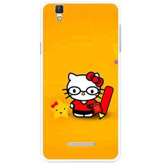 Snooky Printed Kitty Study Mobile Back Cover For Micromax Yu Yureka Plus - Multi