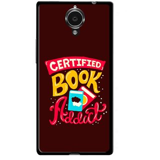 Snooky Printed Reads Books Mobile Back Cover For Gionee Elife E7 - Multicolour