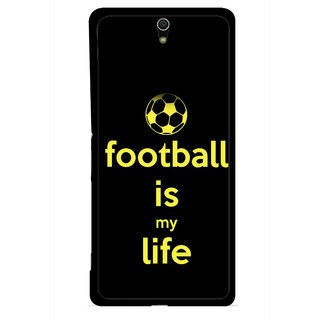 Snooky Printed Football Is Life Mobile Back Cover For Sony Xperia C5 - Multicolour