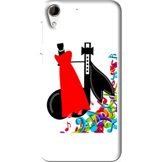 Snooky Printed Fashion Mobile Back Cover For HTC Desire 728 - Multi