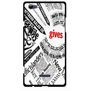 Snooky Printed Newspaper Mobile Back Cover For Micromax Canvas Selfie 3 Q348 - Multi