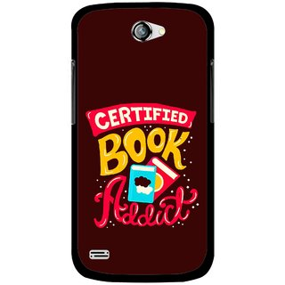 Snooky Printed Reads Books Mobile Back Cover For Gionee Pioneer P3 - Multicolour
