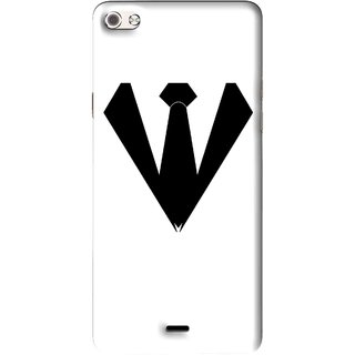 Snooky Printed Tie Collar Mobile Back Cover For Micromax Canvas Sliver 5 Q450 - Multi