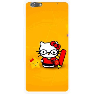 Snooky Printed Kitty Study Mobile Back Cover For Oppo R1 - Multi