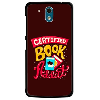 Snooky Printed Reads Books Mobile Back Cover For HTC Desire 326G - Multicolour