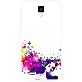 Snooky Printed Flowery Girl Mobile Back Cover For Gionee Pioneer P2S - Multicolour
