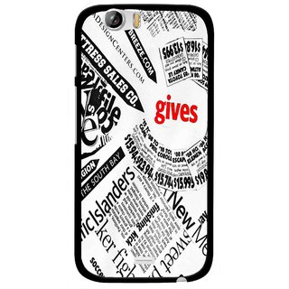 Snooky Printed Newspaper Mobile Back Cover For Micromax Canvas Turbo A250 - Multi