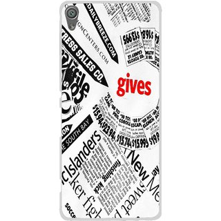 Snooky Printed Newspaper Mobile Back Cover For Sony Xperia XA1 - Multi