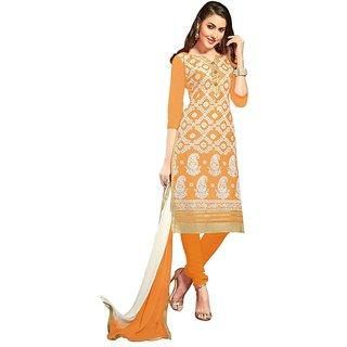 DnVeens Cotton Embroidered Festive Wear Salwar Kameez Dupatta Suit Dress Material (Unstitched)