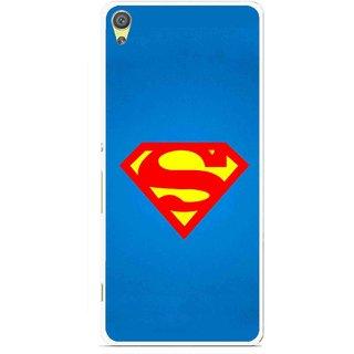 Snooky Printed Super Logo Mobile Back Cover For Sony Xperia XA - Multicolour