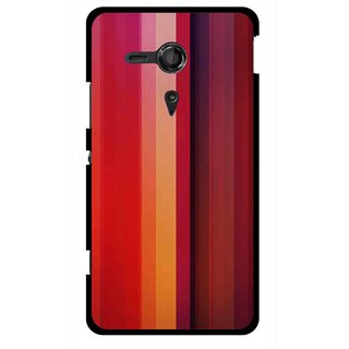 Snooky Printed Colorfull Stripes Mobile Back Cover For Sony Xperia SP - Multicolour