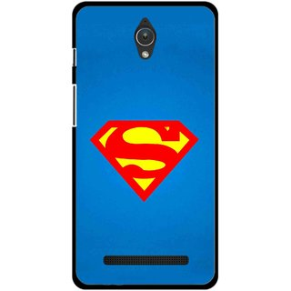 Snooky Printed Super Logo Mobile Back Cover For Asus Zenfone C - Multicolour