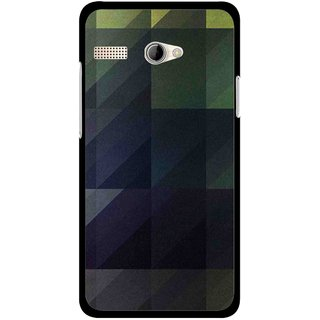 Snooky Printed Geomatric Shades Mobile Back Cover For Intex Aqua 3G Pro - Multicolour