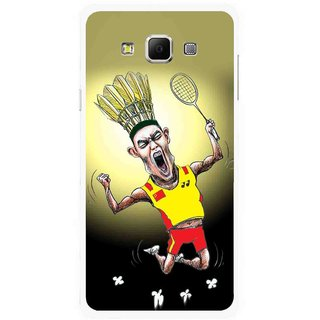 Snooky Printed Adivasi Sports Mobile Back Cover For Samsung Galaxy E7 - Multicolour