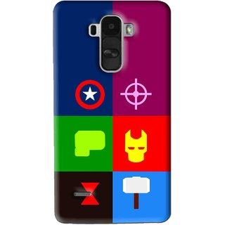 Snooky Printed Multi Heros Mobile Back Cover For Lg G4 Stylus - Multi