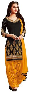 salwar suits(TexStile Women Dress Material black Colour Pure cotton Dress MaterialPureTsp-4)