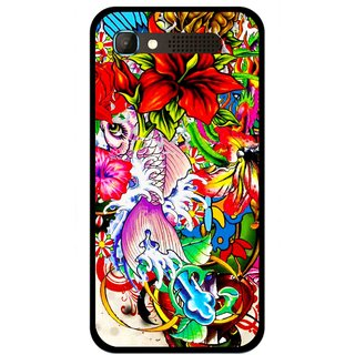 Snooky Printed Horny Flowers Mobile Back Cover For Intex Aqua Y2 Pro - Multicolour
