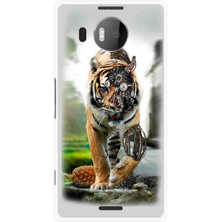 Snooky Printed Mechanical Lion Mobile Back Cover For Microsoft Lumia 950 XL - Multicolour