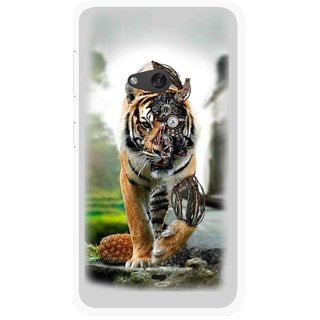 Snooky Printed Mechanical Lion Mobile Back Cover For Nokia Lumia 625 - Multicolour