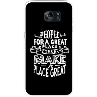 Snooky Printed Personality Attitude Mobile Back Cover For Samsung Galaxy S7 - Multicolour