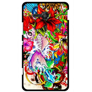 Snooky Printed Horny Flowers Mobile Back Cover For Sony Xperia SP - Multicolour