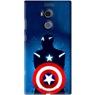 Snooky Printed America Sheild Mobile Back Cover For Gionee Elife E8 - Blue