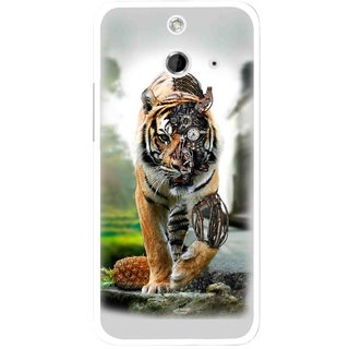 Snooky Printed Mechanical Lion Mobile Back Cover For HTC One E8 - Multicolour
