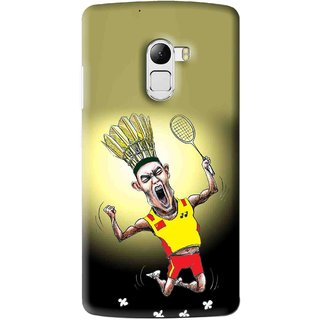 Snooky Printed Adivasi Sports Mobile Back Cover For Lenovo K4 Note - Yellow