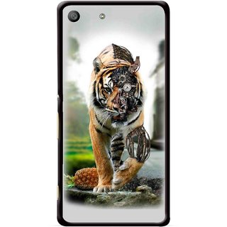 Snooky Printed Mechanical Lion Mobile Back Cover For Sony Xperia M5 - Multicolour