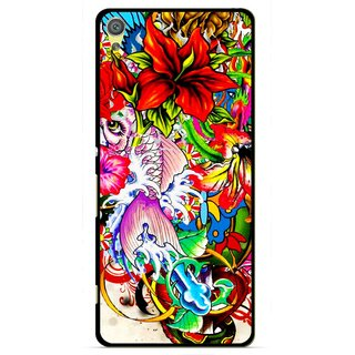 Snooky Printed Horny Flowers Mobile Back Cover For Sony Xperia XA - Multicolour