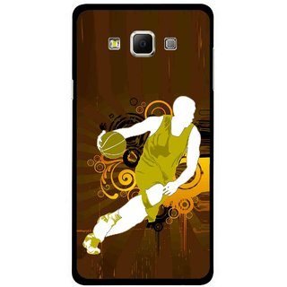 Snooky Printed Chamoins wins Mobile Back Cover For Samsung Galaxy E7 - Multicolour