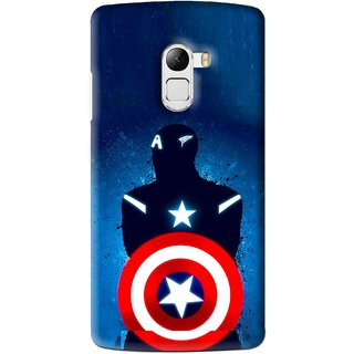 Snooky Printed America Sheild Mobile Back Cover For Lenovo K4 Note - Blue