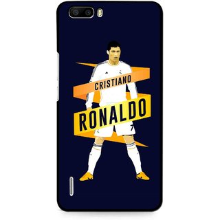 Snooky Printed Ronaldo Mobile Back Cover For Huawei Honor 6 Plus - Multi