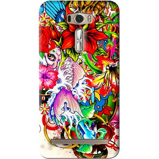 Snooky Printed Horny Flowers Mobile Back Cover For Asus Zenfone 2 Laser ZE601KL - Multi